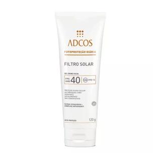 Adcos Filtro Solar Fps40 Gel Creme Incolor 120g