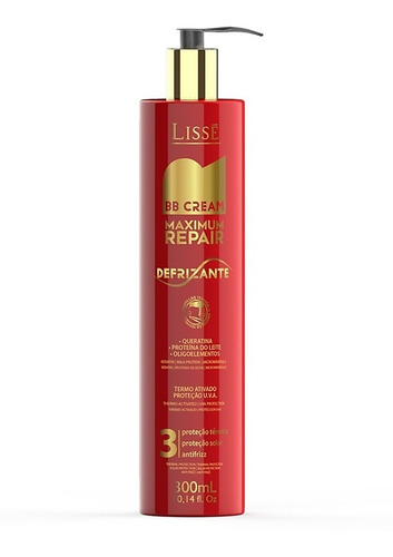 Bb Cream Defrizante Repair Termo Ativado Lisse 300ml