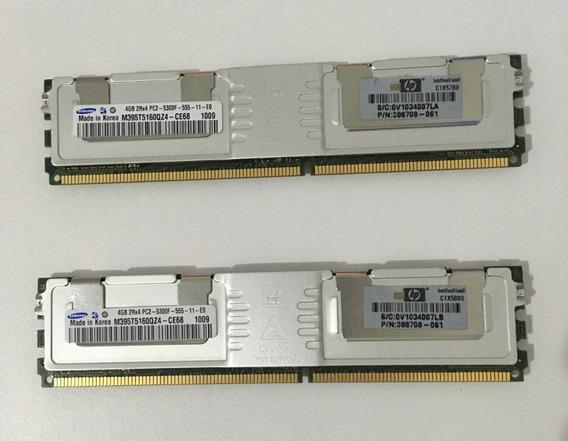 Kit Memória Ddr2 Ecc Samsung 8gb (2x4gb) M395t5160qz4-ce68