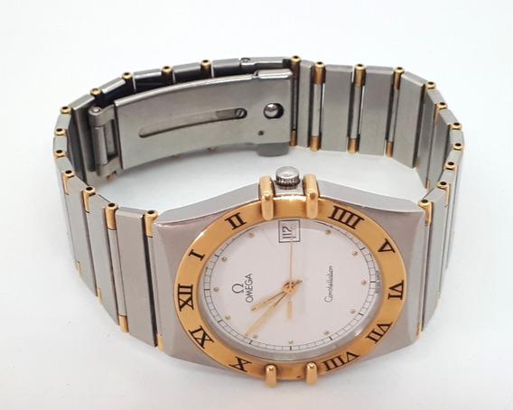 Relógio Omega Constelation Aço E Ouro - Quartz 36mm Com Certificado