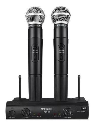 Microfone Duplo Weisre Pgx-51 Sem Fio Vhf