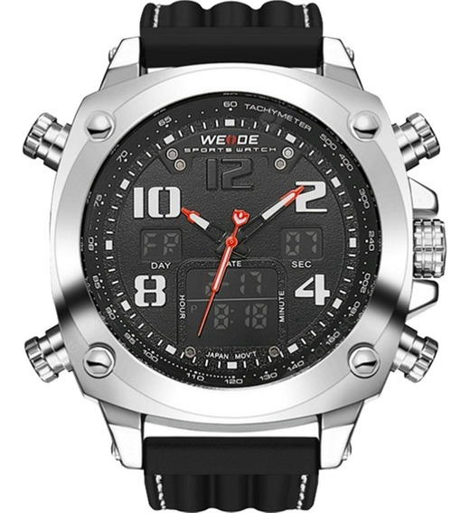 Relógio Masculino Weide Anadigi Preto 10287