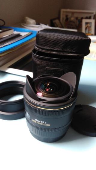 Lente Sigma Dc Fisheye Hsm P/canon 10mm 2.8 Af