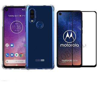Case Anti Impacto Motorola Moto One Vision 6,3 +película 3d