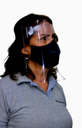 Imagen 1 de 6 de Caretas Acrílicas De Bioseguridad (paquete De 10unds)