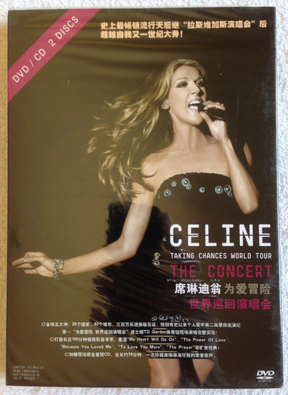 Box Chinês Dvd + Cd Celine Dion - Taking Chances World Tour