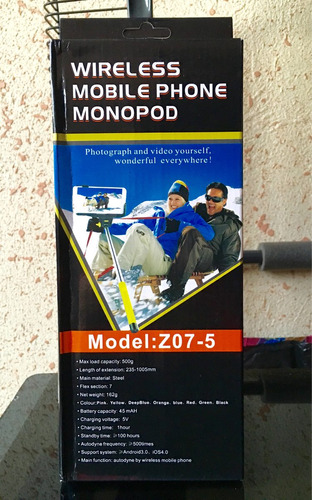 Wireless Mobile Phone Monopod Z07-5