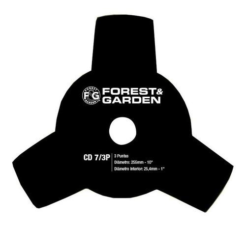 Imagen 1 de 3 de Cuchilla Para Desmalezadora Cd7/3p Forest Y Garden 255mm