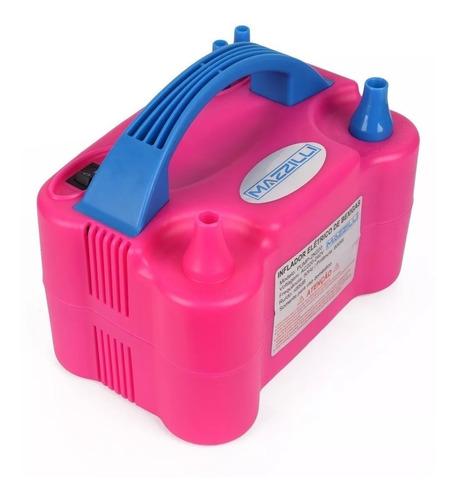Inflador Compressor Bomba Balões Bexigas Rosa