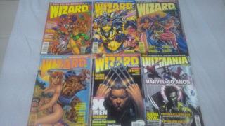 Wizard (1,4,5,6), Wizard Brasil (1) E Wizmania (46)