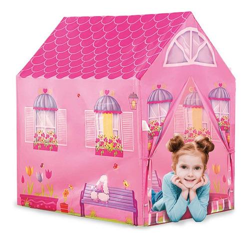 Barraca Minha Casinha Tenda Toca Cabana Infantil Menina Rosa