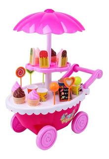 Carrito De Helados Para Nena Con Luz Y Sonido Ice Cream