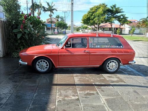 Vw Variant 1974 Vermelho Rubi 1600 Dupla Carburação