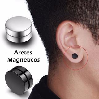 El Par Aretes Magnéticos Iman 10mm Acero Inoxidable Unisex