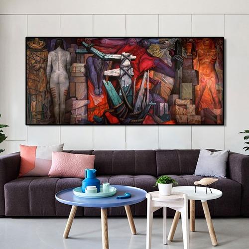 Imagen 1 de 9 de Cuadro-abstracto-decorativo- Canvas 130x60 Cm.