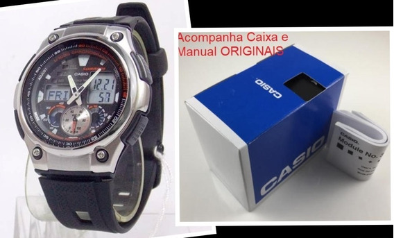 Relógio Ana / Digital Cronógrafo Casio Original Aq-190w