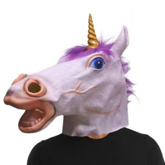 Mascara Unicornio Latex Disfraz Cotillon Caballo Fiesta