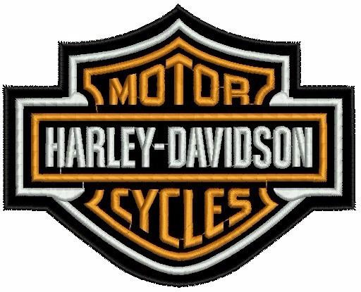 Patch Bordado Harley Davidson Logo Termo Colante 9,4 Cm.
