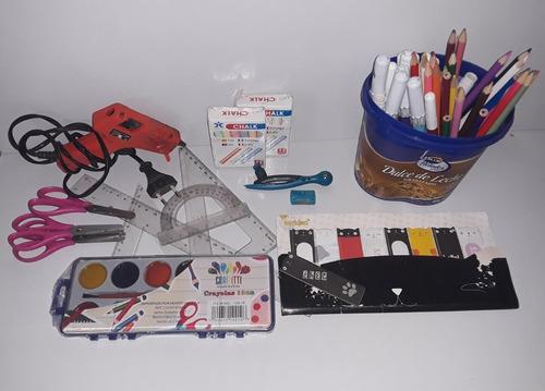 Imagen 1 de 4 de Lote Colores Fibra Marcadores Artículos Escolares Manualidad