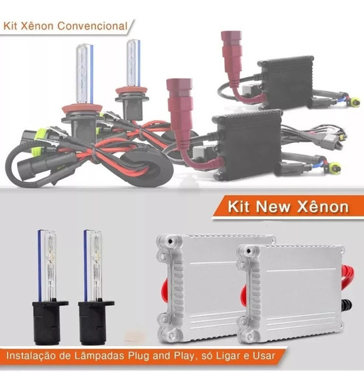 Kit Xenon Hid Slim Digital 4300k 6000k 8000k 10000k
