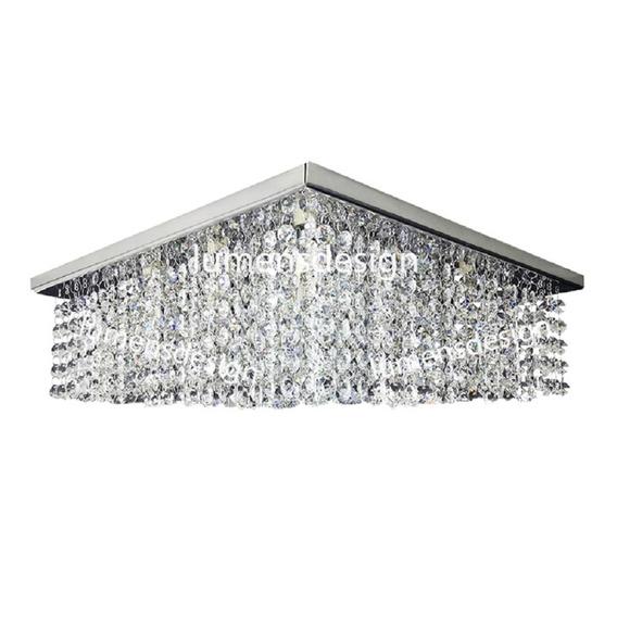 Lustre De Cristal Legítimos 40x40 Pronta Entrega Ld014b