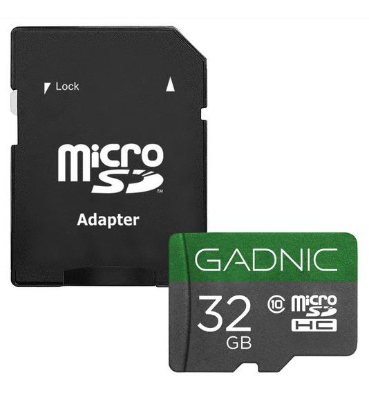 Memoria Micro Sd Gadnic 32 Gb Ultra 48/mbs + Adaptador