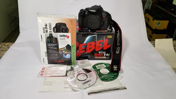 Camera T4i Canon Na Caixa + Tripe + Acessorios