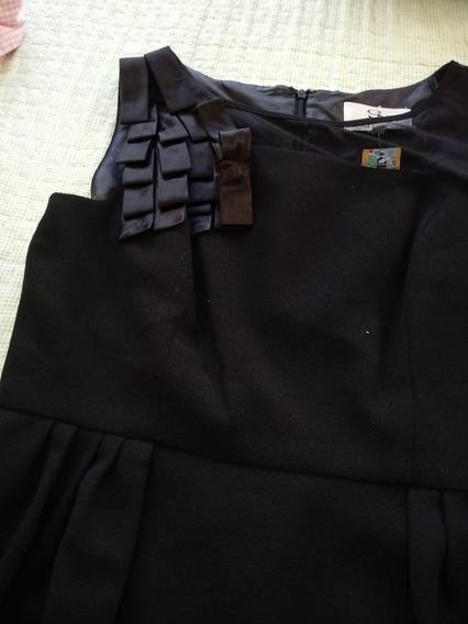 Vestido De Fiesta Negro Importado
