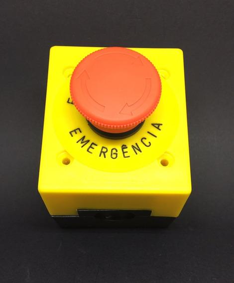 Botoeira 22 Mm + Botão De Emergência + Plaqueta + Contator