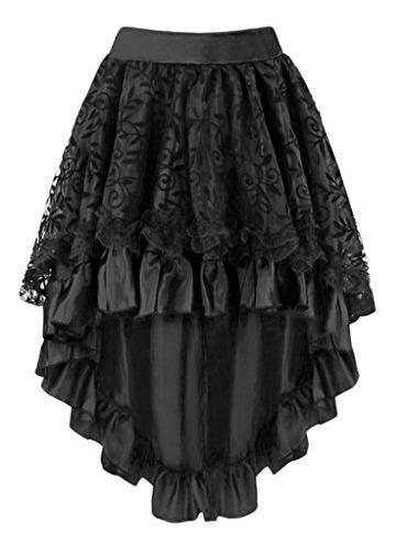 Moda Para Mujer Vintage Victorian Encaje Asimetrica Alto Baj