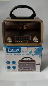 Rádio Retro Portátil Am/fm Entrada Usb 110/220v