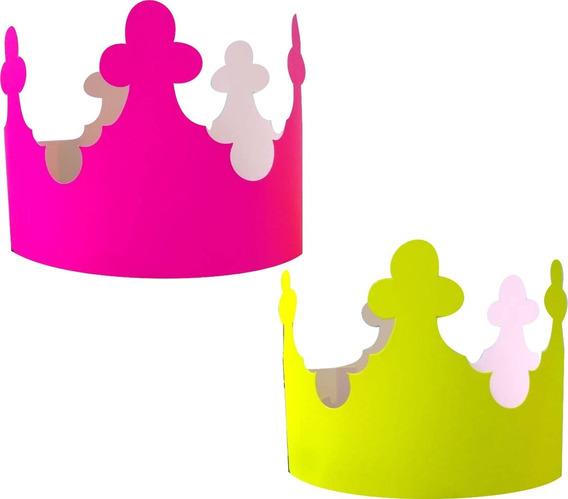 100 Coronas Rey Reina Principe Fiesta Xv Boda Neón Fluo
