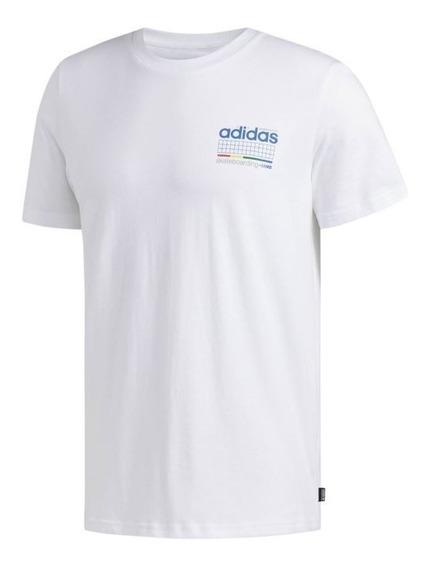 Playera adidas Hombre Blanco Remera Dodson Du8392