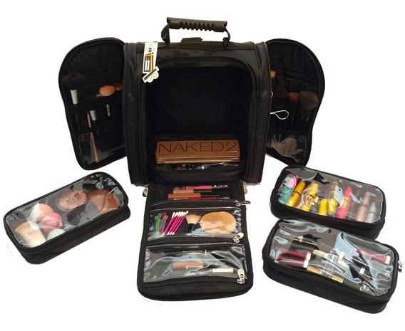 Maleta Makeup Bag Para Maquiagem Com Alça Tamanho Grande