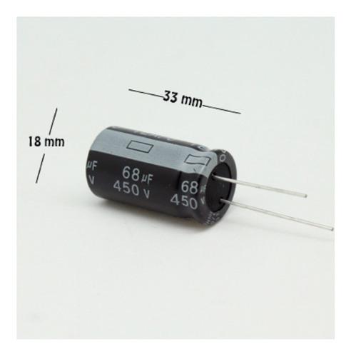Imagen 1 de 1 de Capacitor Electrolitico 68uf 450v