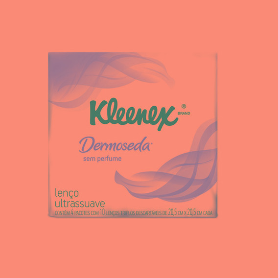 Lenço De Papel Kleenex Dermoseda Bolso 40 Folhas