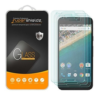 [paquete De 3] Supershieldz Para Lg (google) Nexus 5x Protec