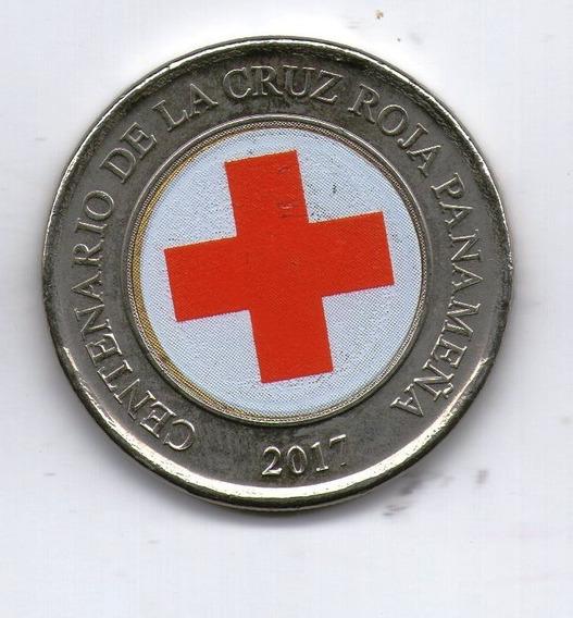 Panama Moneda Bimetalica 1 Balboa 2017 Cruz Roja - Argentvs