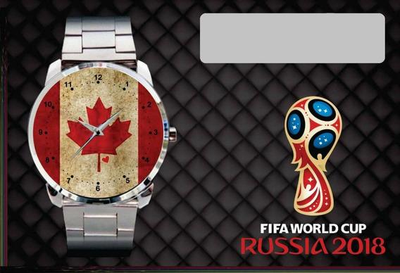 Relógio De Pulso Personalizado Copa 2018 Canada