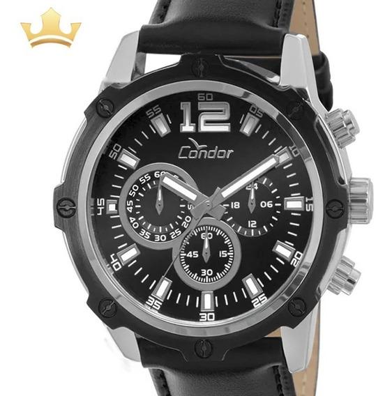 Relógio Condor Masculino Analógico Couro Original + Nf
