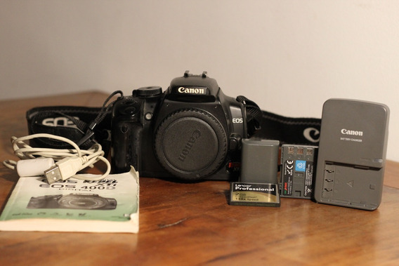 Canon Eos Rebel Xti 400d+cartão 2gb+2 Baterias+carregador