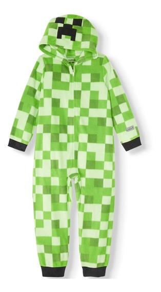 Minecraft Creeper Pijama Original Niño T- X L Envío Gratis