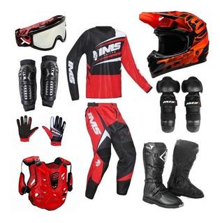 Kit Equipamento Roupa Trilha Motocross Asw Ims Completo 19