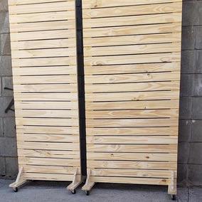Biombo Tipo Deck Con Ruedas