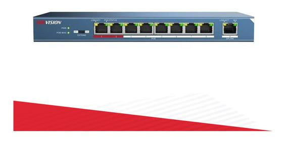 Switch Poe 8 Puertos Hikvision Ds-3e0109p-e/m 1 100m Cuotas