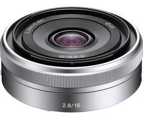 Lente Sony E 16mm F/2.8 - Sel16f28 - Loja Platinum