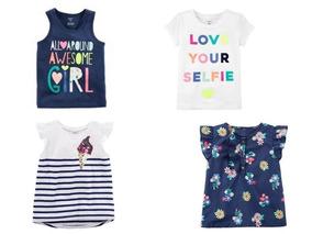 Carters Camisa Regata Menina Floral Verão Unidade