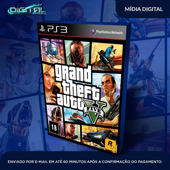 Grand Theft Auto V Ps3 (gta) Psn Midia Digital Em 10 Min!
