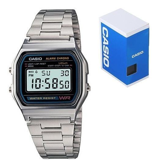 Reloj Casio Retro Vintage A158 Plata Clasico Original
