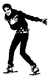 Adesivo De Parede - Pop Michael Jackson 115x73cm